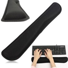 2016 Black Support Comfort Gel Wrist Rest Pad for PC Keyboard Raised Platform Hands