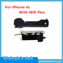 10pcs/lot Loudspeaker with Wifi Antenna Replacement Loud Speaker Ringer Buzzer Flex Cable For iPhone 4S Mobile phone Repair Part
