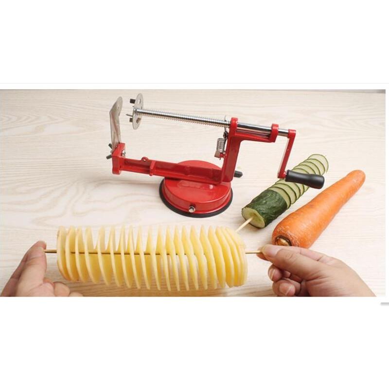 Manual Stainless Steel Sweet Potatoes Machine Potato Slicer Potato Spiral Cutter For Kitchen Tool<br><br>Aliexpress