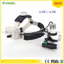 New 5W LED Surgical Head Light dental Lamp All-in-Ones Headlight with loupes 2.5X ,3.5X , 5.0X , 6.0X