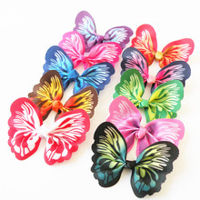 2017 New 100pcs/lot Butterfly design Dog Pet hair bows Rubber bands dog hair accessories pet grooming products 12colour(China)