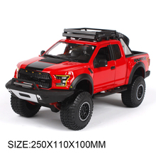 Off-roading Pickup 1:24 Model Car Ford F150 SVT Raptor Truck Metal Toys gift modified car simulation model For Collection(China)