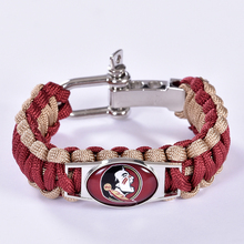 Florida State Seminoles Custom Paracord Bracelet NCAA College Football Bracelet Survival Bracelet,Drop Shipping! 6Pcs/lot!