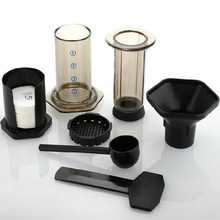 Free shipping The portable coffee pot / Similar AeroPress Espresso coffee filters + 350pcs coffee machine filter paper