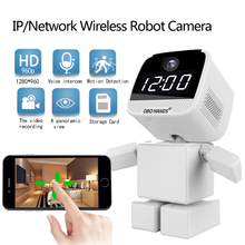 Buy 960P Wireless Robot IP WIFI Camera CCTV HD Camera Indoor Night Vision Wi-fi Network Baby Monitor Security support Two Way Audio for $73.65 in AliExpress store