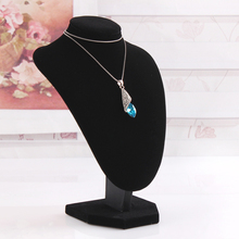 T06-1 High Grade 22cm Black Flannelette Necklace Display Model Stand Mannequin (PROFESSIONAL OFFER)