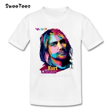 Nirvana Kurt Cobain Boy Girl T Shirt Short Sleeve Baby Cotton O Neck Tshirt Children Costume Rock N Roll Star T-shirt For Infant