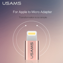 USAMS For iPhone OTG Micro Usb Adapter  Micro Cable to Light Charging Data Sync Cable for iPhone iPad