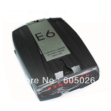 BY DHL OR EMS 20 PIECES New 360 degree100% Factory price Full-band Scanning E6 Car Radar detector LCD Display(China)
