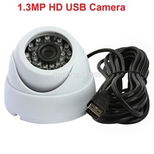 CCTV Security mini Dome Camera Indoor Baby Monitor 6mm lens 960P HD android ,linux,Windows ir led infrared camera usb(China)