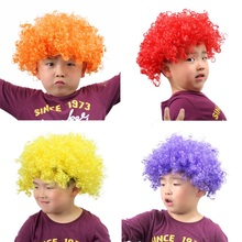 1 PC Children's Day Wig Kids Boy Girl for 3-5 years Old Multi-color Birthday Party Props