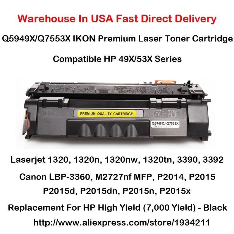 Q5949X Q7553X 49X 53X Toner Cartridge 1320,1320n,1320nw,1320tn,3390,3392,M2727nf MFP,P2014,P2015,P2015d,P2015dn,P2015n,P2015x<br>