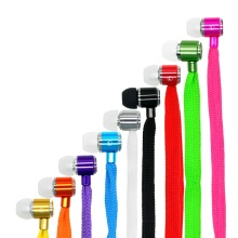 MOONBIFFY Shoelaces Ear Hook Stereo Metal Bass Head Earphone Headset Music Earpieces with Mic Remote Control for Cellphone