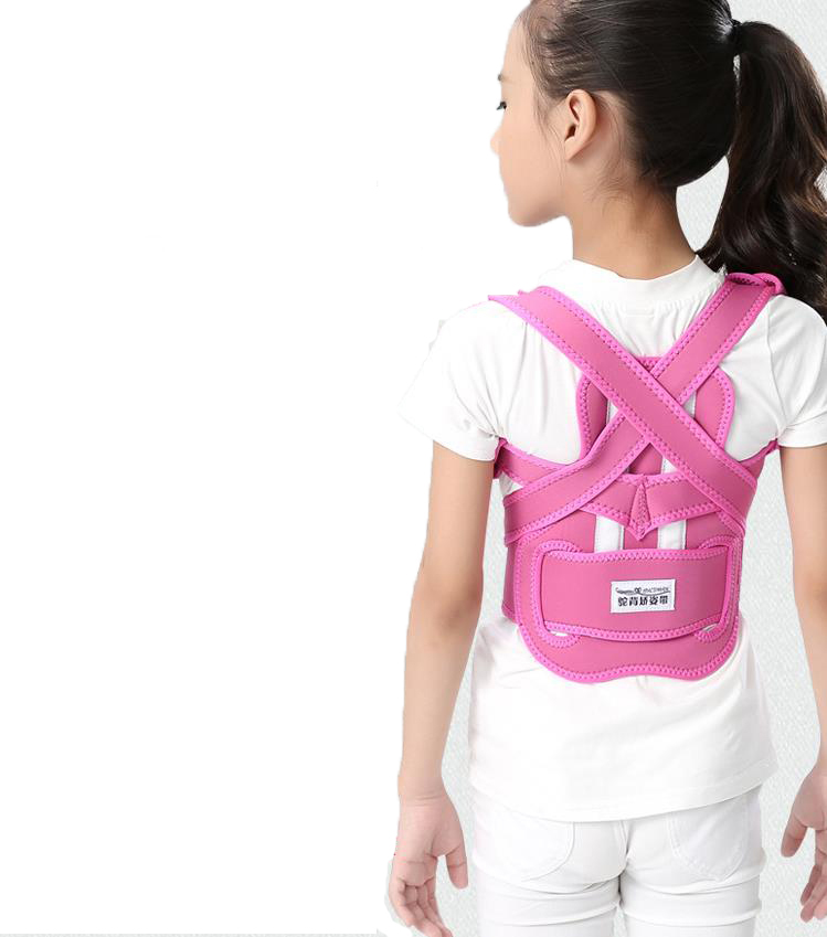 Childrens children kyphosis correction with sitting posture orthotics JiaoZi take correct male and female students back<br>