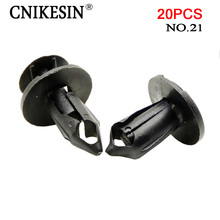 CNIKESIN 20pcs 8mm Automotive Universal Plastic Rivet  Fasteners Bumper Trunk Expansion Clips for Ford Honda Toyota Car Styling