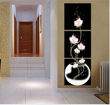 painting by numbers flower home decor wall art  flower pictures on wall oil painting on canvas Christmas gift HQ225