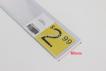 Width 80mm L 1.2-1m flat adhesive label holder strip shelf price talker ticket sign clip plastic data strip