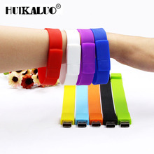 Multi-color Bracelet Wrist Band usb flash drive 4GB 8GB 16GB 32GB 64GB 128GB Pen Drive U disk Memory Stick portable Pendrive(China)
