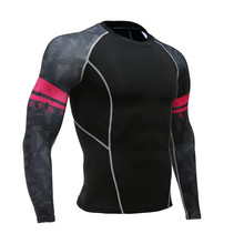 Men's Base layer Compression Long Sleeve T Shirts Fitness skam Juventus T-shirt mma rashguard Teen Wolf Jerseys tee shirt homme