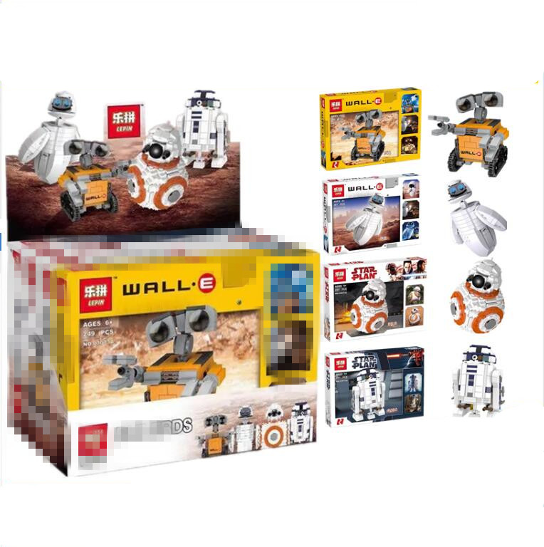 Lepin 03073 The 4 Robots In 1 Set Genuine Movie Series Building Blocks Bricks Funny Toys DIY Christmas New Year Kids Gifts<br>