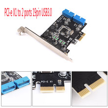 PCI Express to Dual 20 Pin USB 3.0 PCI-e X1 to 2 ports 19pin USB3.0 Header Support Low Profile Bracket #224789(China)