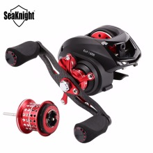SeaKnight ELF BaitCasting Fishing Reel 6.4:1 Dual Brake System Left Right Hand Carbon Fiber Fishing Wheel + Spare Shallow Spool