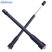 Abbree Telescopic SMA-F Female Handheld Dual Band Antenna for Walkie Talkie Baofeng UV-5R UV-5RE BF-888S Series TYT TH-UV8000D