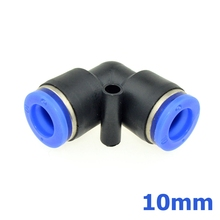 Air Pneumatic 10mm OD tube push into 10mm Pipe L Shaped Elbow Connector Fittings Plastic Quick Fitting