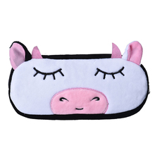 Kids Cartoon Pencil Case Plush Large Pen Bag Cosmetic Makeup Cartoon Storage Bag Cow(China)
