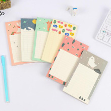 T54 80 Pages /Pack Cute Kawaii Forest Animals Check List Memo Pads School Stationery Message Sticky Notes(China)
