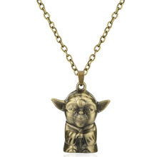 HANCHANG Fashion Jewellery Star Wars Necklace Master Figure Yoda 3D Pendant Necklace Men Women Vintage Charm Necklace