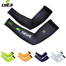 Cheji Cycling Arm Warmers Breathable UV Protection MTB Bike Bicycle Sleeves Arm warmer Oversleeve Ridding manguito ciclismo(China)