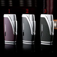 Honest Double straight windproof creative gun lighters with cigar punch without gas fuel