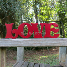 wooden love wall hanging sign or shelf sitter or choice of colors Free Shipping 10CM(China)