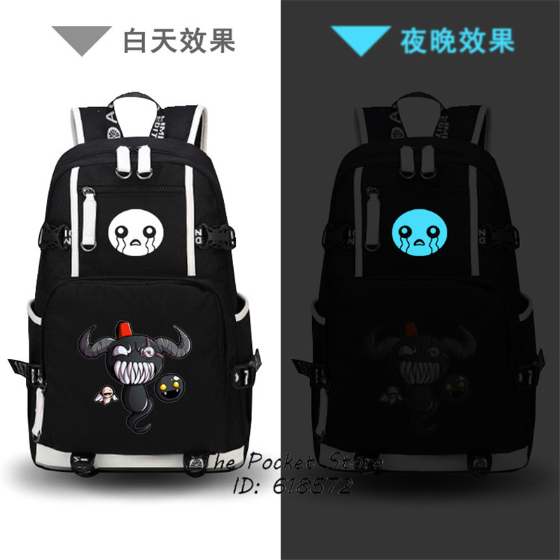 High Quality Hot Game The Binding of Isaac/The Binding of Isaac Rebirth Printing Laptop Backpack Canvas School Bags Travel Bags <br>