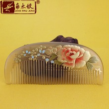 TOP END Authentic Natural Claw comb high-quality hand-painted art fine tooth pocket comb bag comb ACH-651