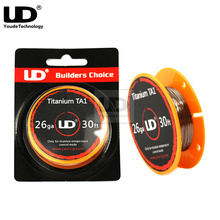 Original Youde UD Titanium TA1 Wire with 28ga 26ga 30ft/roll for Electronic cigarette accessorie RDA RBA Atomizer(China)