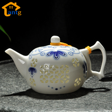 New Arrival Ultra-Thin Exquisite Teapot Blue and White Porcelain tureen fair cup of tea Kettle,Black Tea Ware High Quality(China)