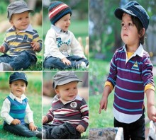 5 Model  children clothing set casual boys striped clothes set Spring & Autumn baby garment Wholesale And Retail CCS068