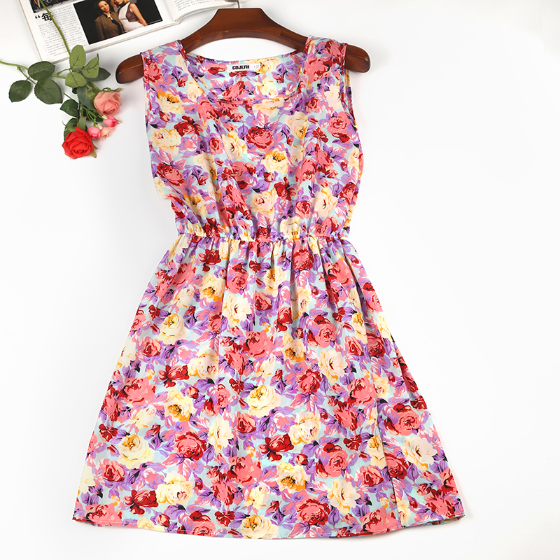 America Spring Casual Women Sleeveless Dress 2