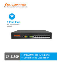 COMFAST fast POE switch CF-S180P network switch with 8*10/100Mbps RJ45 port Network Switch for router IP Cam 48V Real Poe Supply(China)