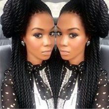 Twist Braided Wig Braided Lace Front Wigs Synthetic Micro Braids Black Color Glueless Hair Synthetic Lace Front Wig for Women