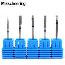 1Pcs 5 Type Tungsten Carbide Nail Drill Bit Rotate Burr Milling Metal Bits For Electric Nail Drill Machine Manicure Accessories(China)