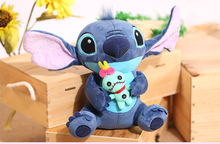 2017 Big Size Stitch Lilo Plush Toys Lilo and Stitch Stich Plush Toys Monchhichi Scrump Soft Stuffed Animals Doll Kids Toys Gift(China)