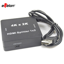 Effelon 4K*2K Mini HDMI Splitter 1x2 1.4V HDMI audio splitter 1 in 2 out HDMI switch switcher Full HD 1080P Support 3D