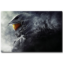 HALO 4 5 Guardians Master Chief Art Silk Fabric Poster Print 13x20 24x36 inch Vedio Game Pictures for Living Room Wall Decor 033(China)