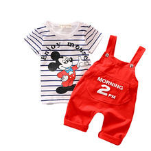 Cartoon Mouse Baby Boy's Clothing Set 2017 New Toddler Boys Clothes Spring Summer Fashion Kids Clothes T-shirt+Shorts T548(China)