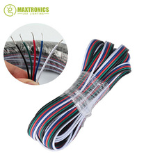 10M 5 Pin Extension RGBW Wire Connector Cable For 3528 5050 RGB LED Strip Free shipping(China)