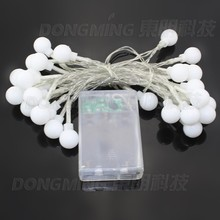3M 30LED 5pcs Mini Cherry battery power led ball string light  Xmas Halloween Wedding Party Home Gift Lamp Bulb Free Shipping