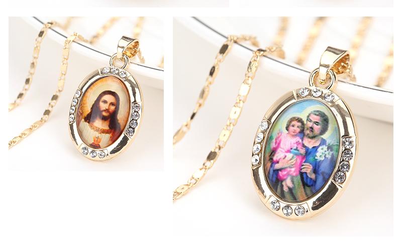 AYAYOO Necklaces&Pendants Gold Color Jesus Virgin Mary Necklace Women Chain Fashion Long Necklace Wedding Men Vintage Necklaces (4)